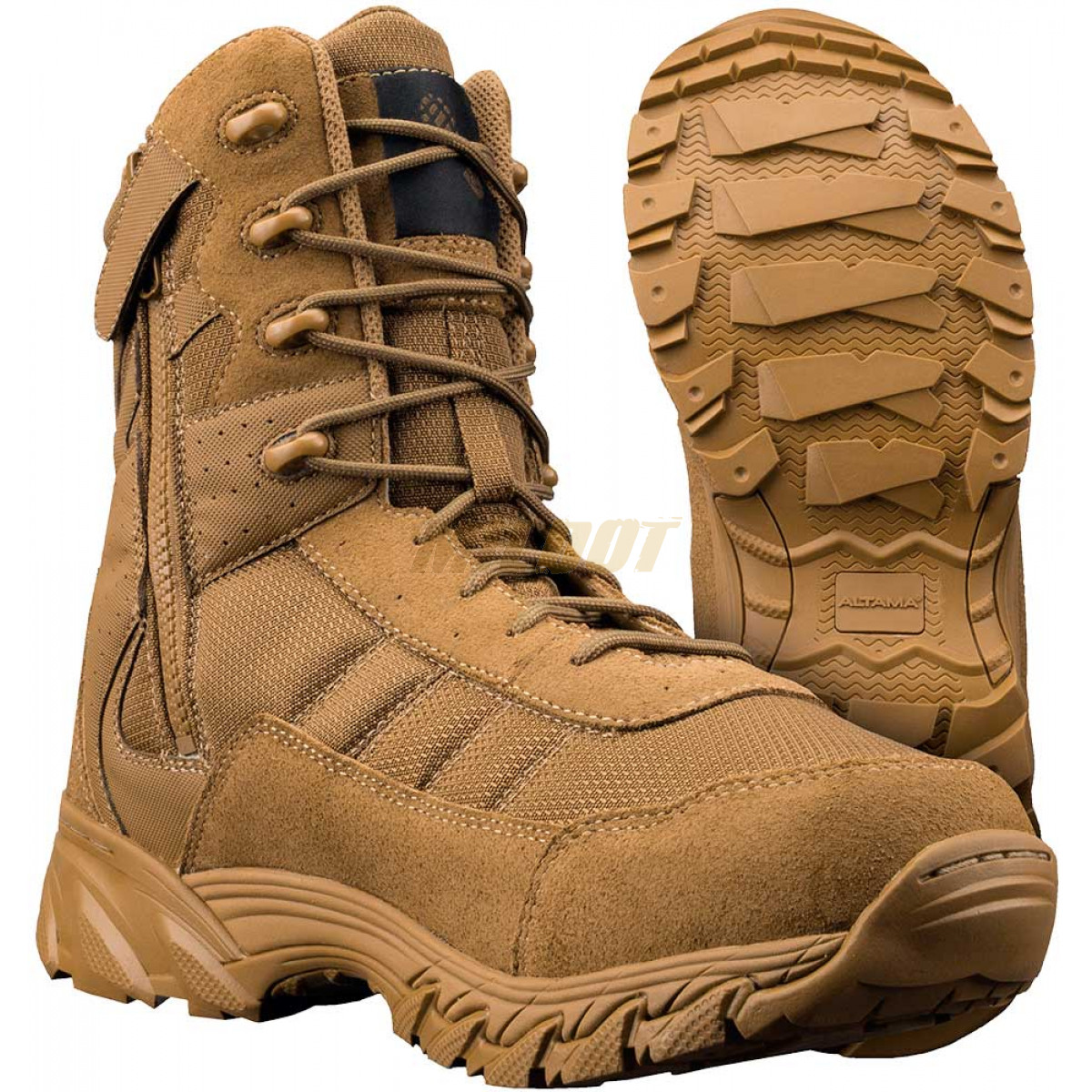 Botas Altama Vengeance 8 Quot Side Zip Coyote