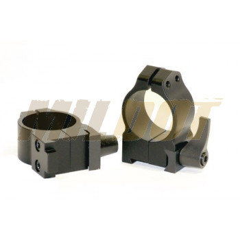 "Anillas WARNE 1"" desmontables para rifles BRNO con carril de 19mm - Altas"