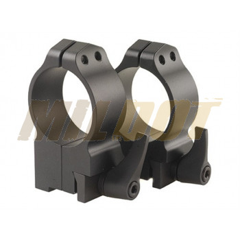Anillas WARNE 30mm desmontables para rifles RUGER con carril - Altas