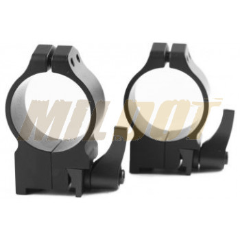Anillas WARNE 30mm desmontables para rifles RUGER con carril - Medias