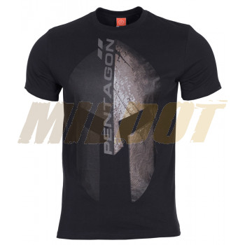 Camiseta PENTAGON Eternity casco espartano negra