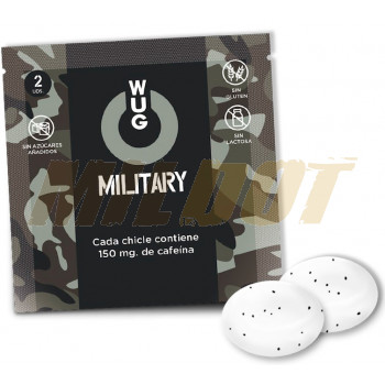 Chicles con cafeína WUG Military