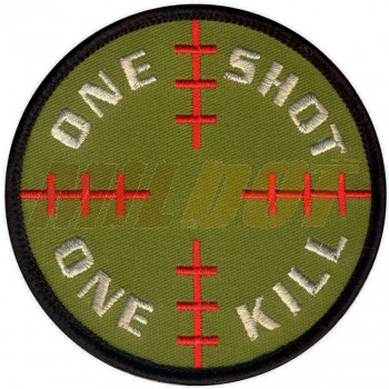 Parche textil One Shot One Kill