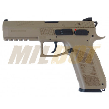Pistola CZ P-09 Duty FDE Blowback Co2