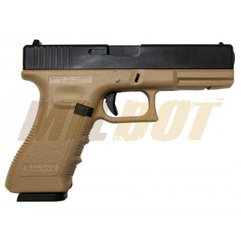 Pistola KP-17-MS Co2 6mm Blowback Tan