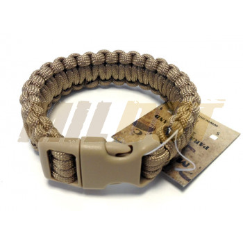 Pulsera Paracord MILTEC 22mm coyote