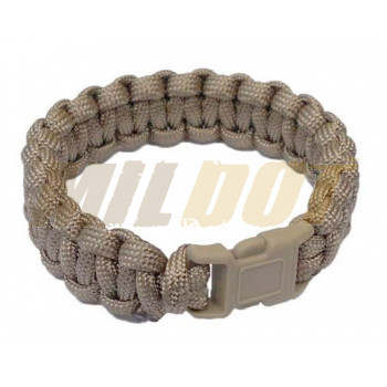 Pulsera Paracord MILTEC 15mm coyote