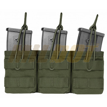 Triple funda portacargador G36 verde WARRIOR ASSAULT