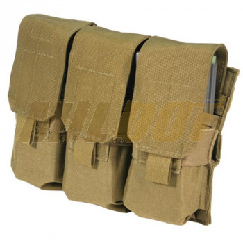 Triple funda portacargador M4/M16 BLACKHAWK con Speed Clips - coyote