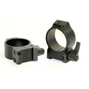 Anillas WARNE 30mm desmontables para rifles BRNO con carril de 19mm - Medias