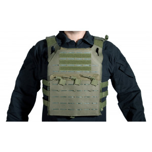 Chaleco DELTA TACTICS Plate Carrier LC Verde OD