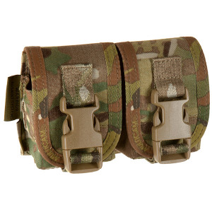 Doble funda porta granadas WARRIOR ASSAULT MultiCam