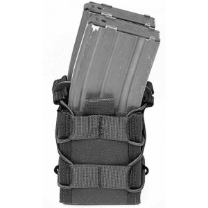 Doble funda portacargador de rifle WARRIOR ASSAULT negra