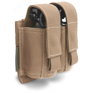 Pouch porta granadas doble 40mm WARRIOR ASSAULT Coyote