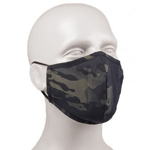 Mascarilla facial Multicam Black MILTEC