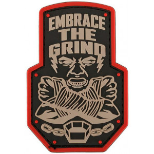 Parche goma 3D Embrace the Grind