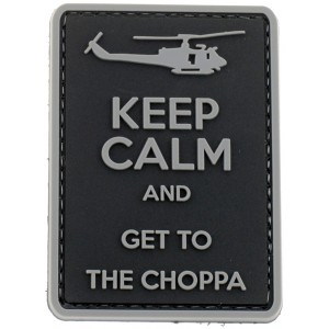 Parche goma 3D Get to the Choppa