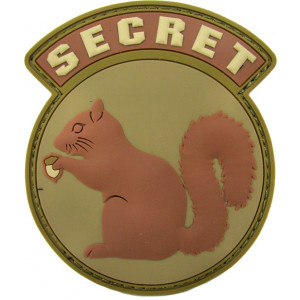 Parche de goma 3D Secret Squirrel desert