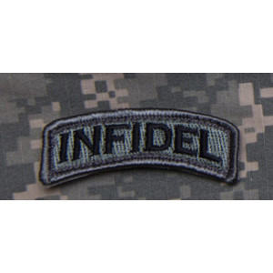 Parche INFIDEL Tab gris oscuro