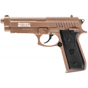 Pistola SWISS ARMS PT92 Tan CO2 4.5mm