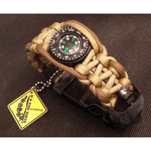 Pulsera Paracord EXTREME SURVIVAL Led coyote