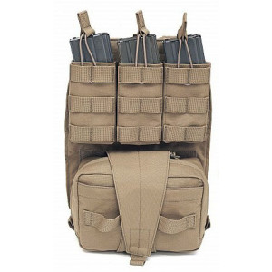 WARRIOR ASSAULT Back Panel Med Pouch y Triple M4 coyote