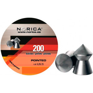 Balines NORICA Pointed 6.35 mm