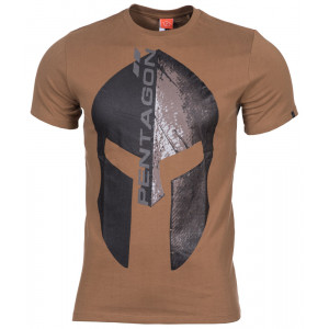 Camiseta PENTAGON Eternity casco espartano coyote