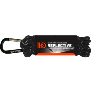 Cuerda reflectante Paracord 550 GEAR AID negra