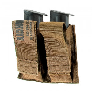 Doble funda portacargador BLACKHAWK MOLLE para arma corta color coyote