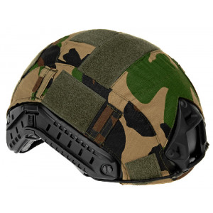Funda camo Woodland para casco FAST de INVADER GEAR