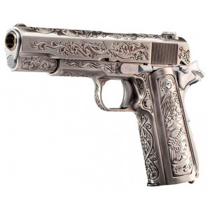 Pistola WE M1911 Etched Full Metal GBB 6mm