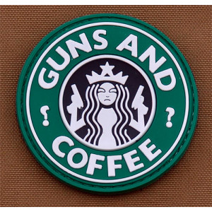 Parche goma 3D Guns & Coffee