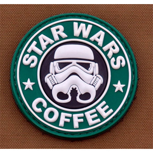 Parche goma 3D Star Wars & Coffee