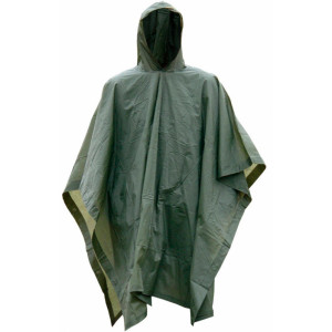 Poncho Impermeable Rip-Stop MILTEC verde OD