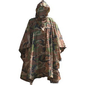 Poncho Impermeable Rip-Stop MILTEC camuflaje Woodland