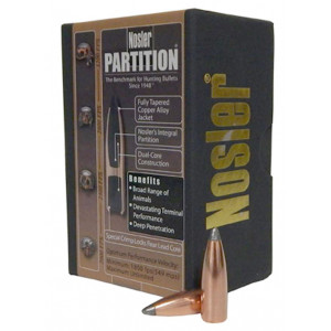 Puntas NOSLER Partition calibre .30 - .308 de 180 Grains